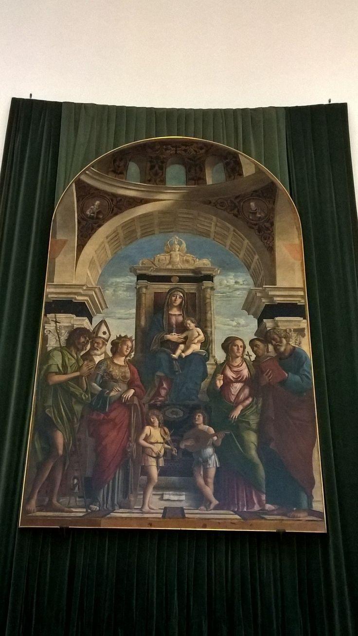 The altarpiece by Cima in the Church of Conegliano