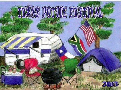 Clarize's design won the t-shirt competition Texas Potjie 2013