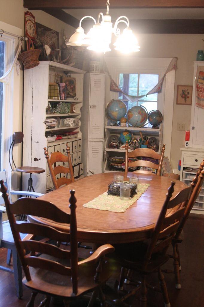 The dining room as school room homeschool room and for Homeschool dining room ideas