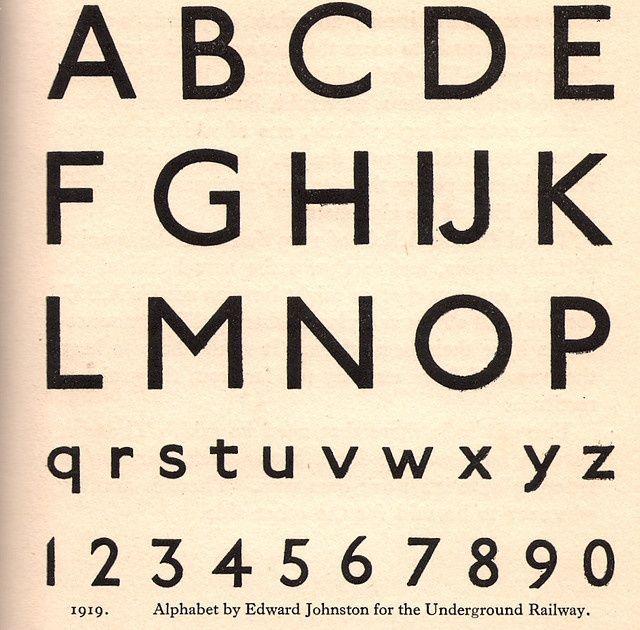 Tipografia Futura, expresa la era moderna. Actualmente se ha sustituido por la Gill Sans.