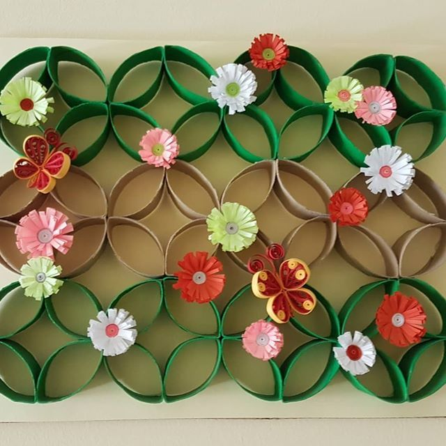 Wall Art using toilet rolls. Recycle and Upcycle craft art. . #quilling #quillingcraft #quillingart #quillingpaper #paperquilling #paperart #papercraft #quillingflower #quillingbutterflys #toiletrollart #toiletrollcraft #toiletrolls #recyclecraft #upcyclecraft #craftart #craftandart #handmadecraft #handicraft