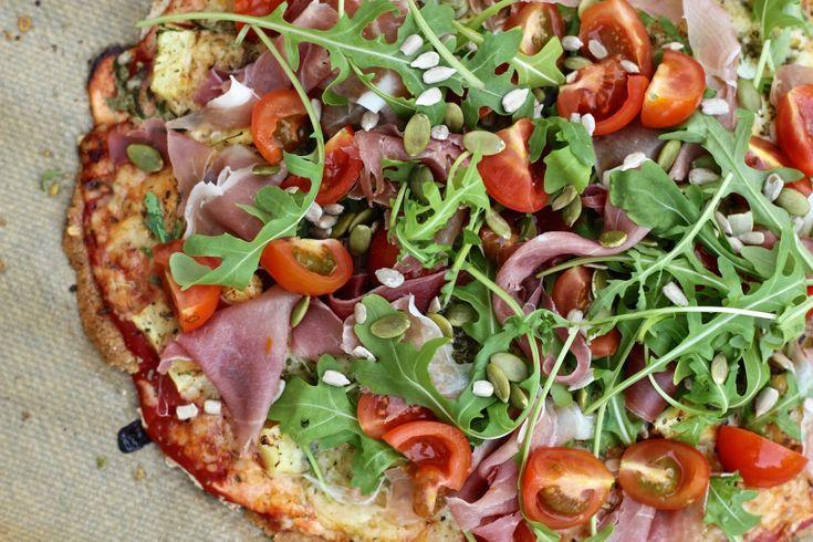 Glutenfri pizza med ägg