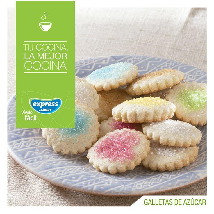 Galletas de azúcar #Receta #Recetario #RecetarioExpress #ExpressdeLider #Galletas #Azúcar
