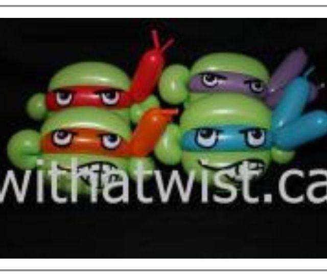 Teenage Mutant Ninja Turtle Balloon Bracelets.
