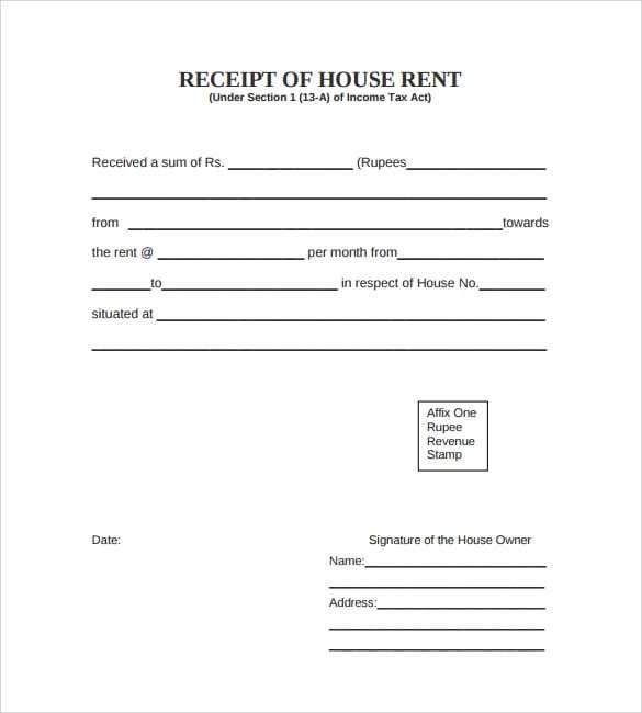 Rent Receipt Template 8 Receipt Template Word Template Templates