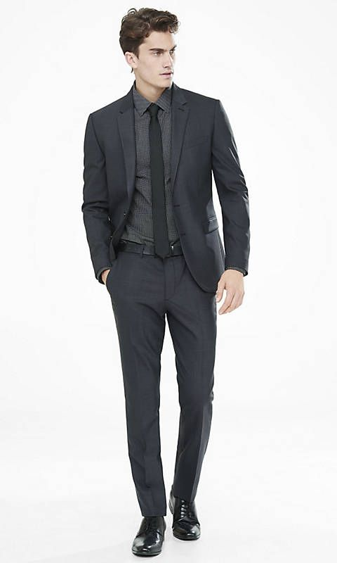 Dark Gray End-on-end Innovator Suit Pant | Express