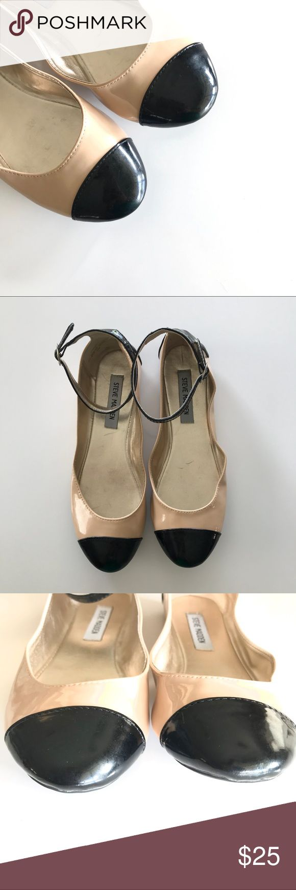 Steve Madden Gabrielle Ballet Flats Size 8 Steve Madden Gabrielle Ballet Flats Size 8, Cream and Black, Small scuff marks as shown in photos, Smoke Free Home EUC Steve Madden Shoes Flats & Loafers