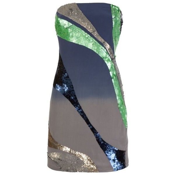 Paul & Joe Sister Strapless Sequin Trim Dress, Multicoloured, 14 (3 835 UAH) ❤ liked on Polyvore featuring dresses, vestiti, women's dresses, multi color dress, multi print dress, multi colored dress, strapless cocktail dresses and strapless dresses
