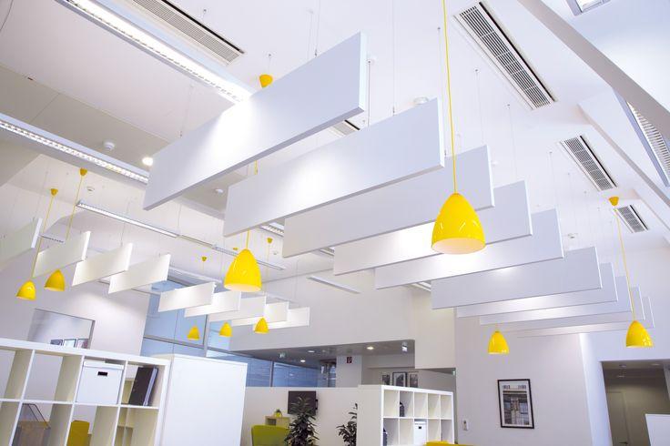 Regus Office, Wiedeń, Armstrong, sufity podwieszane, sufit akustyczny, acoustic, ceiling, Baffle