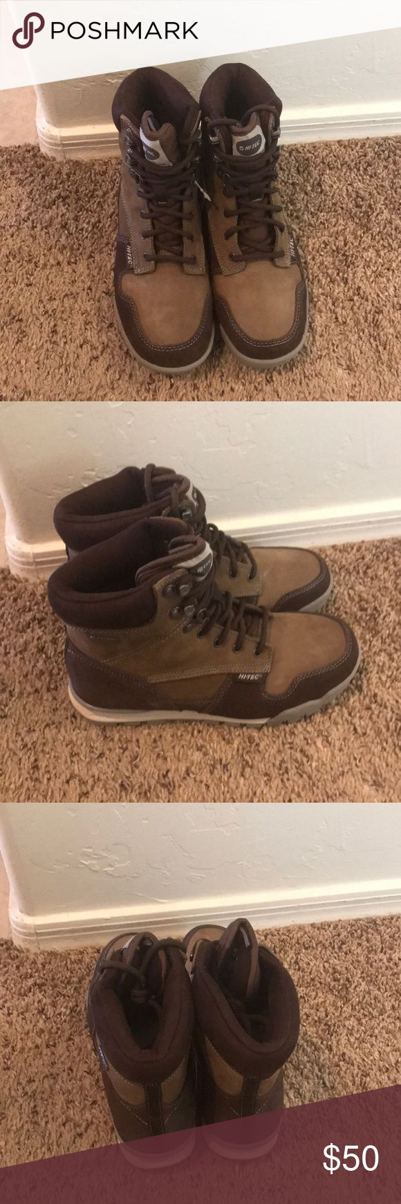 Hiking boots Brand new never been worn hiking boots. In perfect condition. Hi-Tec Shoes Lace Up Boots