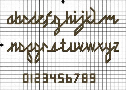 Free Lowercase Back Stitch Alphabet Pattern