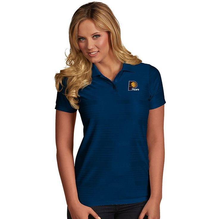 Women's Antigua Indiana Pacers Illusion Polo, Size: Medium, Blue (Navy)