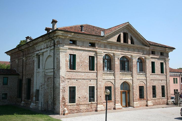 Villa Thiene in fifth, Vicenza, 1542.  We observe the giant order that-the tables of the building.  Dottrina dell'Architettura