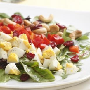Curried Salad with Egg & Cashews-- Healthy Recipes for One Serving