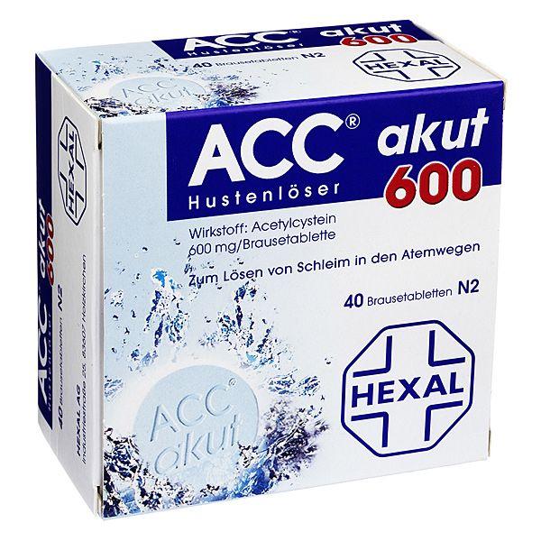 ACC akut 600 mg Hustenlöser, Brausetabletten, 40 St | PZN: 520917 | WIRKSTOFF: Acetylcystein | HERSTELLER: HEXAL AG | >> http://www.juvalis.de/520917/acc-akut-600-brausetabletten << #Apotheke #Arzneimittel #Medikamente #Erkaeltung #Hustenloeser