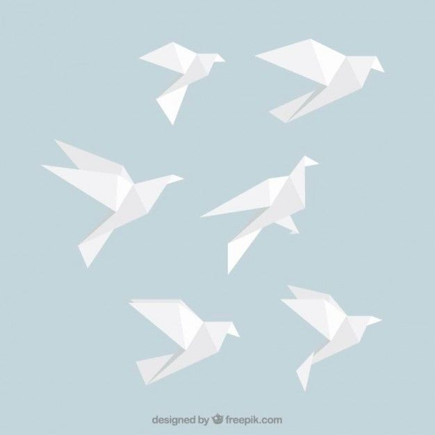 Idea: Origami Birds -> wall art for the living room