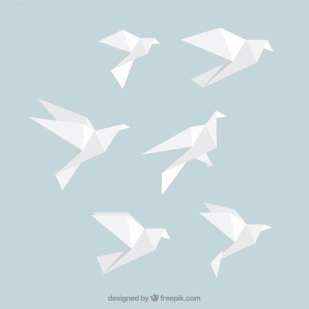 Idea: Origami Birds -> wall art for the living room ...