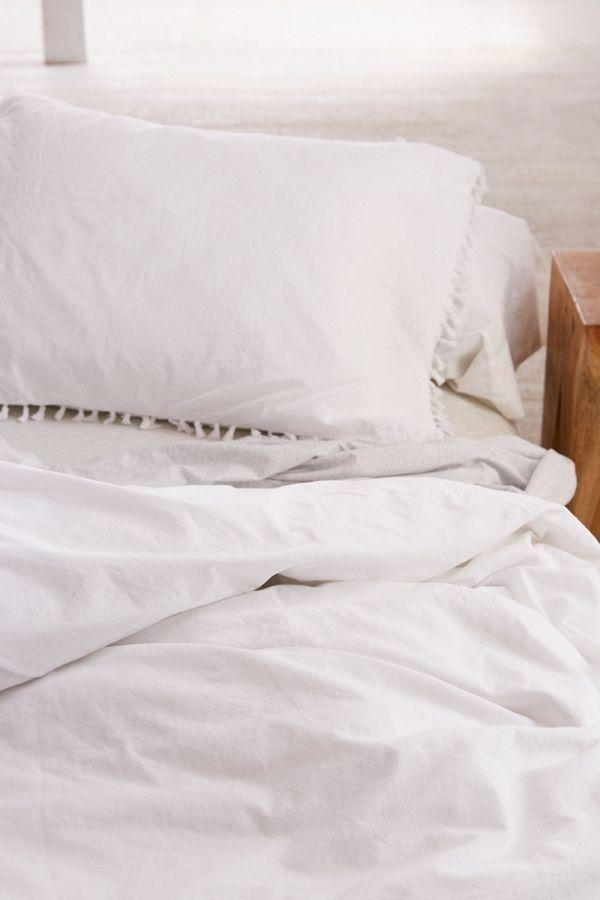 Washed Cotton Tassel Duvet Cover Duvet Covers Duvet Duvet
