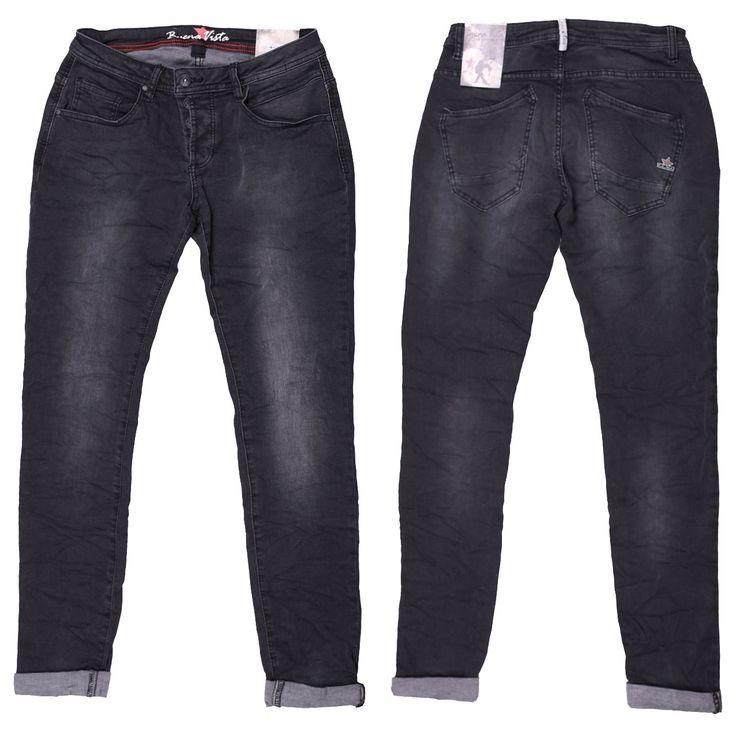 Buena Vista Stretch Damen Jeans / Form: California Stretch Denim / Farbe: schwarz verwaschen - FarbNr. 3101 / im Buena Vista Jeans Online Shop