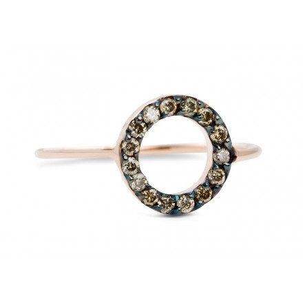 JADA Zea ring circle cognac diamonds