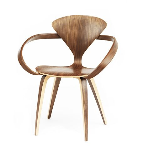 Cherner Armchair - One of the mid-20th century's most striking examples of moulded plywood, Norman Cherner's wasp-waisted chair is the design for which he is best remembered. #Conran #theconranshop #Designinspiration