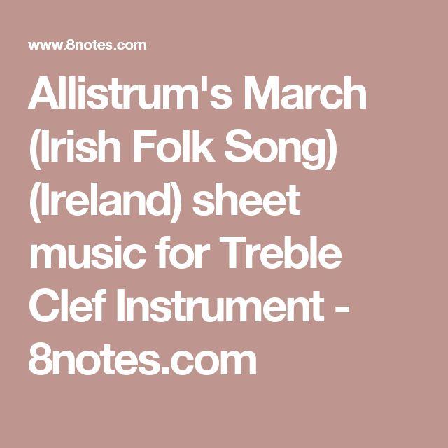 Allistrum's March (Irish Folk Song) (Ireland) sheet music for Treble Clef Instrument - 8notes.com