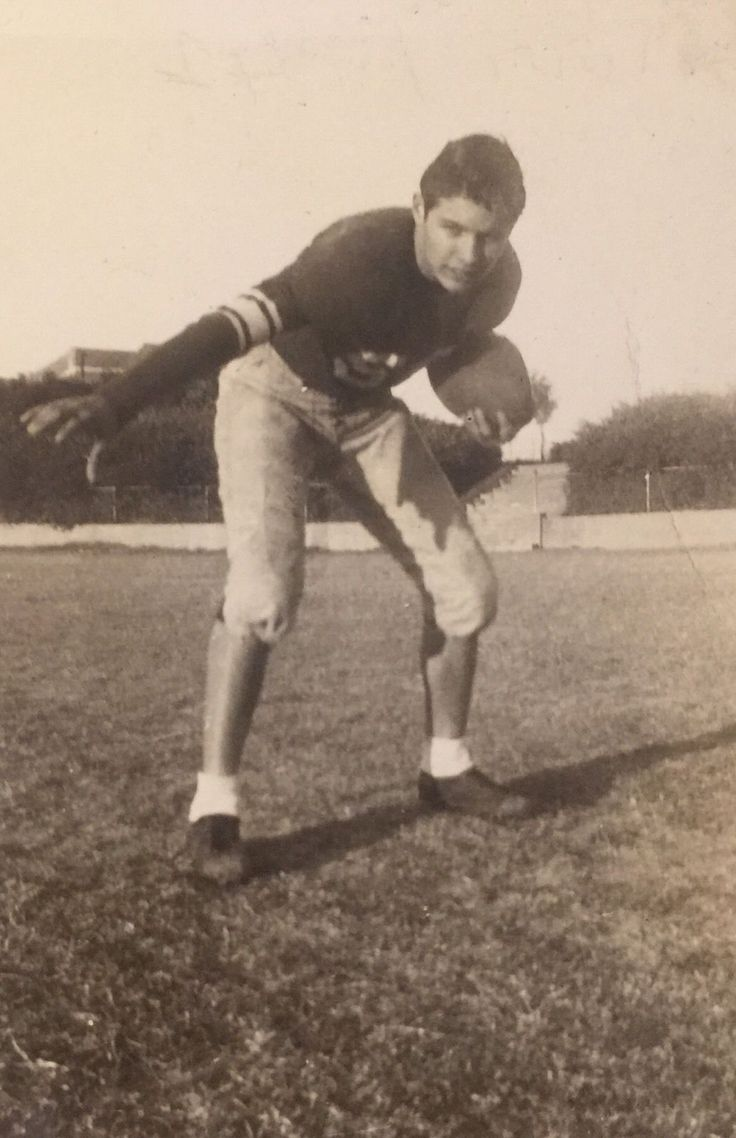 Vintage Photograph Handsome Football Player Poses Gay Interest 1950s