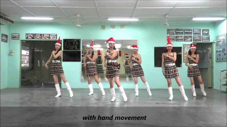 Christmas Bachata line dance(Demo & Walk Through) (6/12/14)