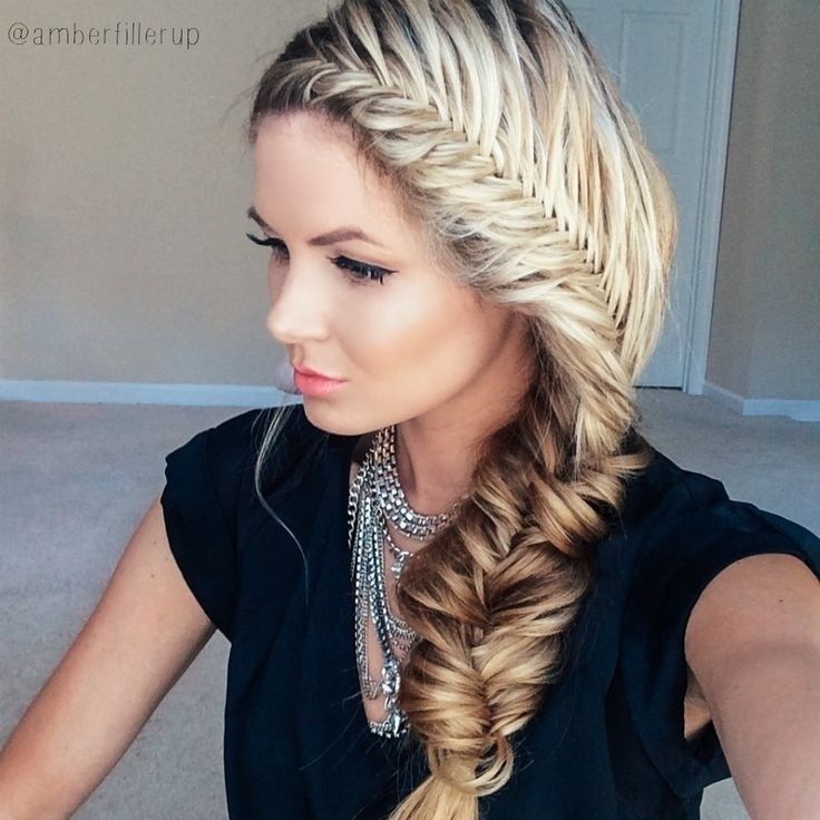 Chunky French Fishtail Hairstyles for Women and Girls (sis @r iabarrientos gawin mo ito hehehe)