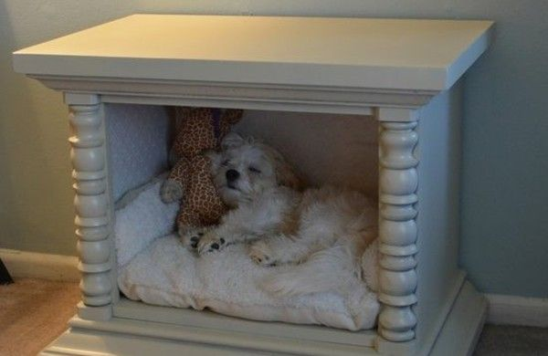 hunde bett selber bauen diy ideen aus alten möbeln