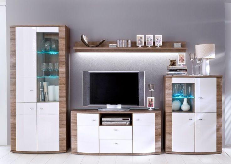 17 best ideas about wohnwand weiss on pinterest | tapeten ideen, Wohnzimmer dekoo