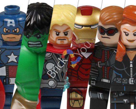 LEGO Marvel Avengers Minifigures Photo Captain by Brick2you
