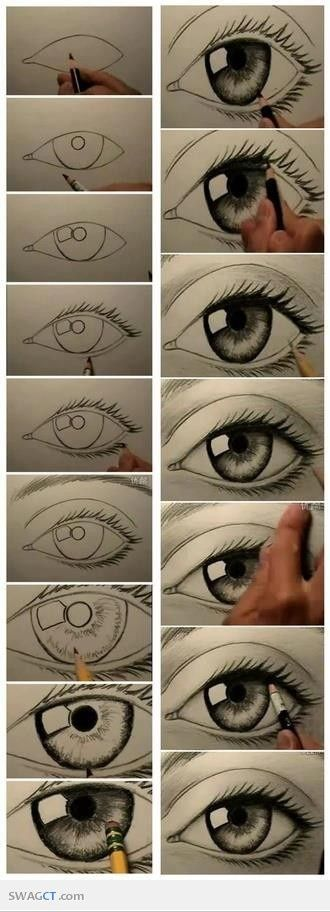I love drawing eyes I don't know why!