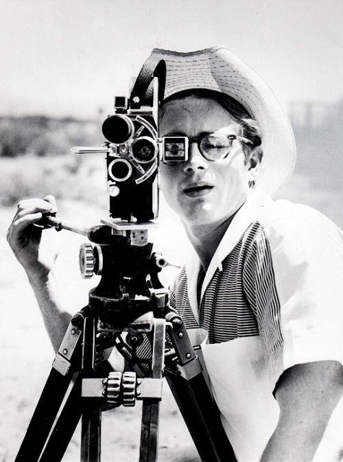 babeimgonnaleaveu:    James Dean on the set of Giant, 1955.