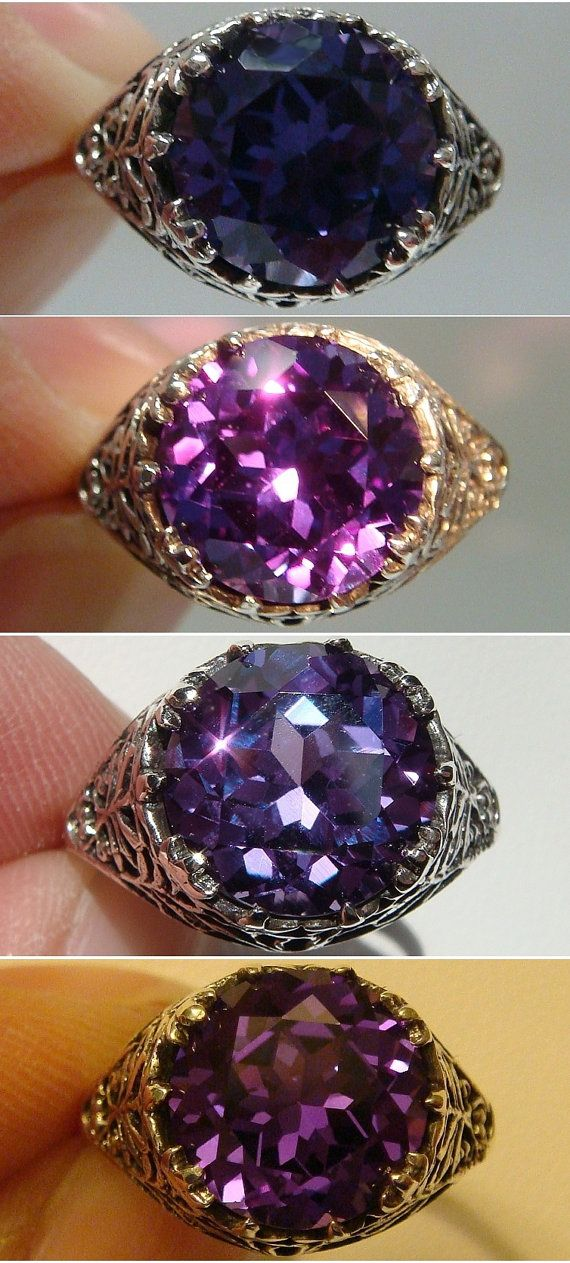 stud clarence alexandrite stone by natural rings designs