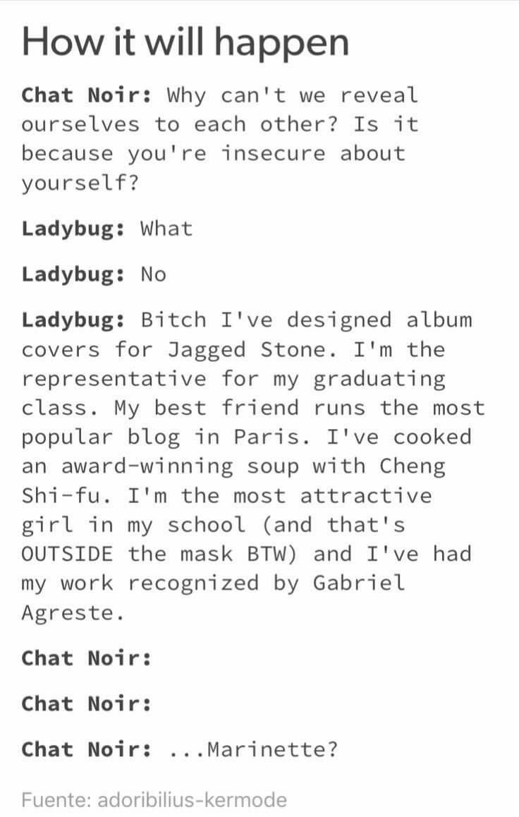 If this does happen I'll cry  | ladÿbug | Miraculous ladybug