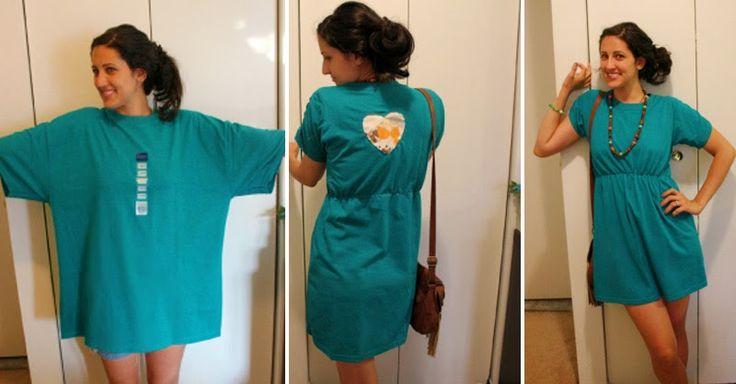 Versione Beta di me: Trasformare una vecchia T-shirt in un pratico vestito