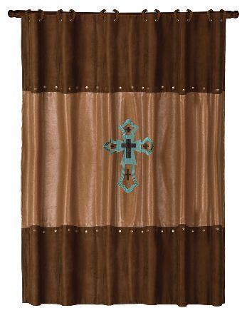 Bathroom Shower Curtains | cross shower curtain las cruces embroidered cross shower curtain ...  ONE CUTE OPTION