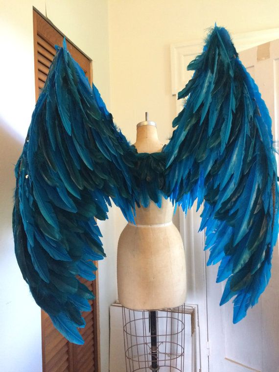 xl blue maleficent costume fairy wings faerie angel by cecilyrush - Halloween Costumes Angel Wings