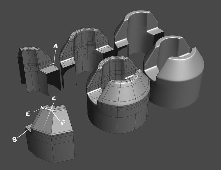 FAQ: How u model dem shapes? Hands-on mini-tuts for mechanical sub-d AKA ADD MORE GEO - Page 157 - Polycount Forum