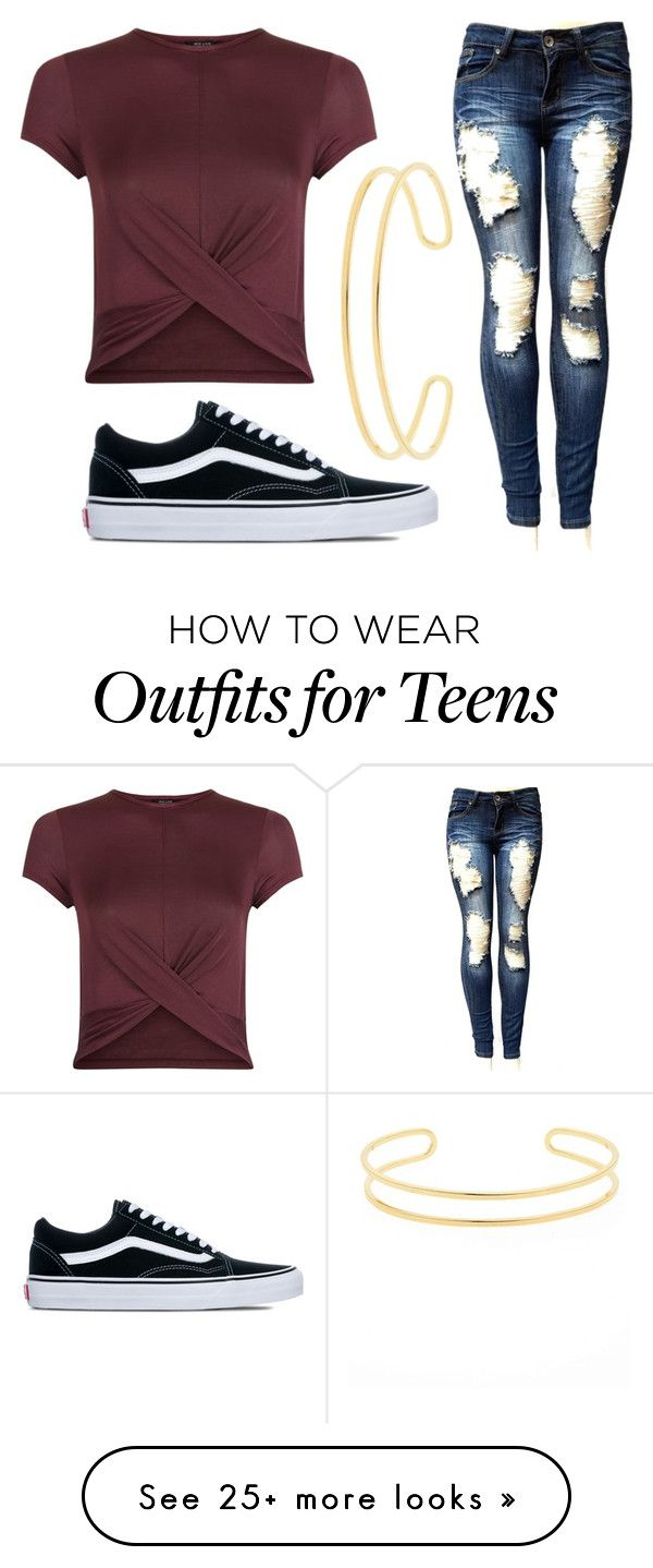 """Untitled #412"" by gigglesanddimples on Polyvore featuring New Look, Vans and Sole Society"