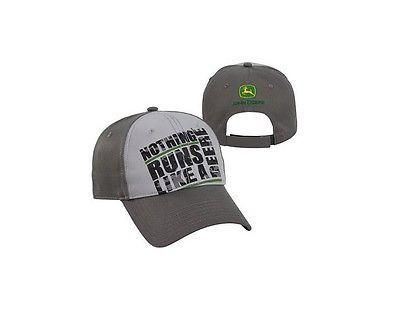 Youth John Deere Hat / Cap (Gray) - LP64883