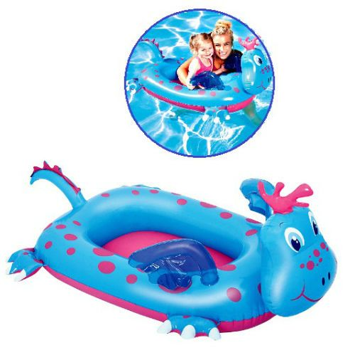 Kids Inflatable Swimming Boat Baby Pool Seat Ring Trainer Float Dragon Dingy Toy #Bestway