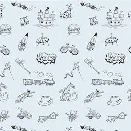 WallCandy Doodle Temporary Wallpaper | 2Modern Furniture & Lighting