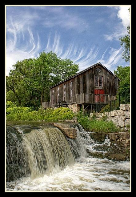 Erb's Grist Mill, Waterloo, Ontario, Canada by 100alpha, via Flickr