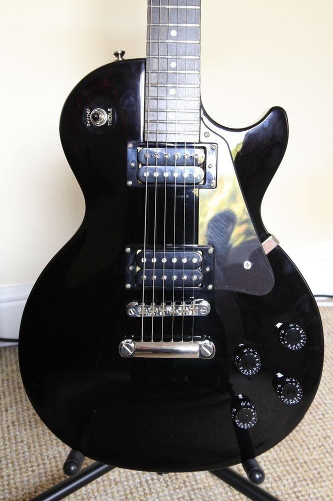 Epiphone Les Paul Studio guitar, in Ebony  Very good