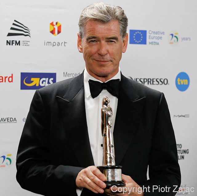 Pierce Brosnan with honorary award EUROPEAN ACHIEVEMENT IN WORLD CINEMA at @eurofilmawards #efa2016 ceremony in Wroclaw, Poland #piercebrosnan #efa #nfm #narodoweforummuzyki #Wroclaw #award #actor #aktor #celebrity #portret #portrait #jamesbond #canon #canonpolska #teamcanon #canon_polska #canonphotography #photography #dziejesiewpolsce #wroclove #wro2016