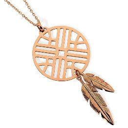Pastiche Rose Gold Dream Catcher Necklace (001-025-05424)