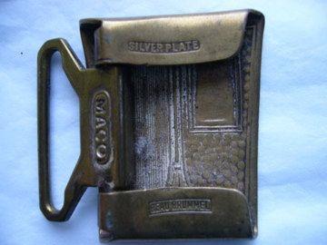 Vintage Men's Brass Belt Buckle Art Deco by FabricOfTheUniverse