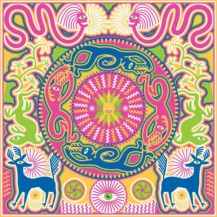 Creating Daylight Ilustration inspired by Huichol spiritual beliefs and legends.